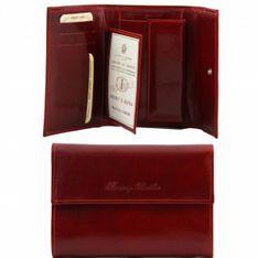 TUSCANY LEATHER Stredná dámska kožená peňaženka