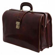 TUSCANY LEATHER Doktorská kožená taška veľká CANOVA